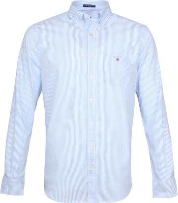 Gant Casual Hemd Strepen Lichtblauw