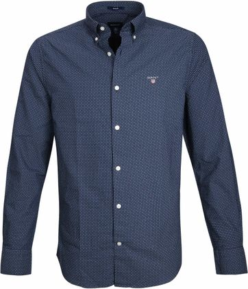 Gant Casual Overhemd Circle Navy