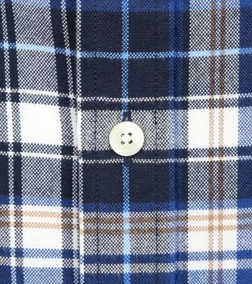 Gant Casual Overhemd Geblokt Blauw