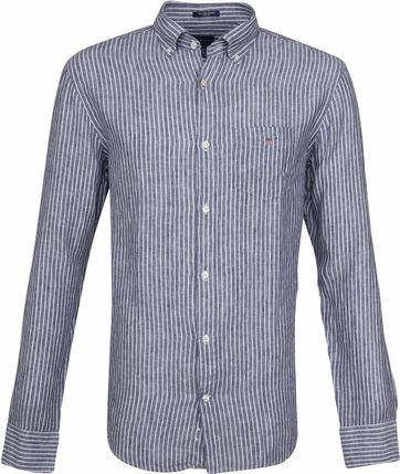 Gant Casual Overhemd Linnen Blauw