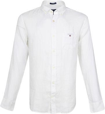 Gant Casual Overhemd Linnen Wit