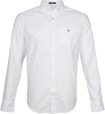 Gant Casual Overhemd Oxford Wit