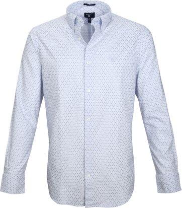 Gant Casual Overhemd Print Blauw