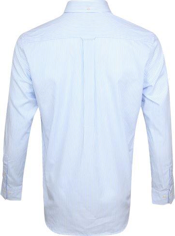 Gant Casual Overhemd Strepen Lichtblauw