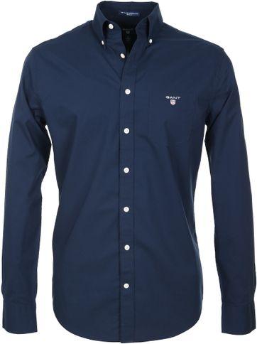 Gant Casual Overhemd Uni Navy