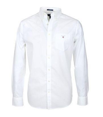 Gant Casual Overhemd Uni Wit