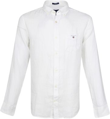 Gant Casual Shirt Linen White