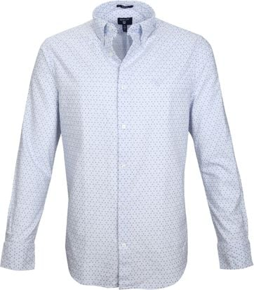 Gant Casual Shirt Print Blue