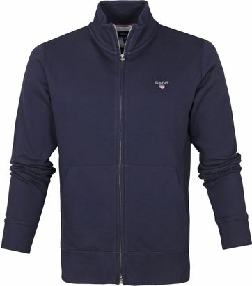Gant Full Zip Original Cardigan Navy