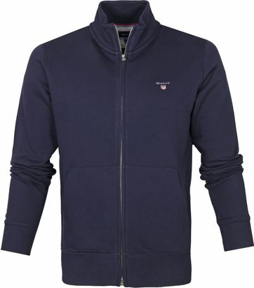 Gant Full Zip Original Strickjacke Navy