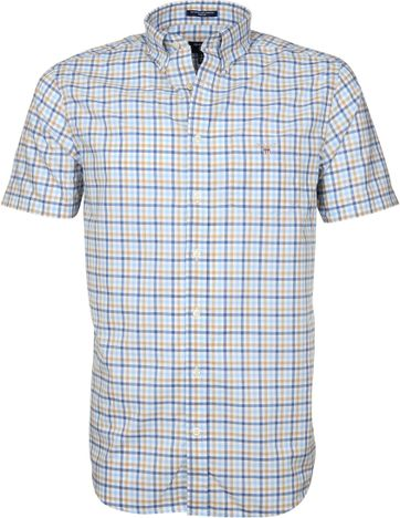 Gant Gingham Check Khaki Blue