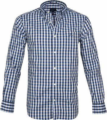 Gant Heather Overhemd Ruit Blauw