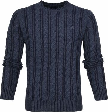Gant Heavy Cable Pullover Navy