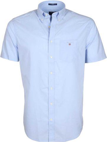 Gant Hemd Boradcloth Kurze Ärmel Blau