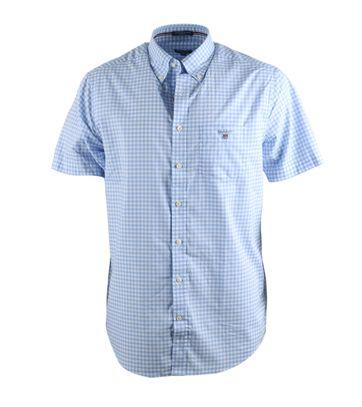 Gant Hemd Korte Mouw Blauw