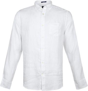 Gant Hemd Leinen Weiß