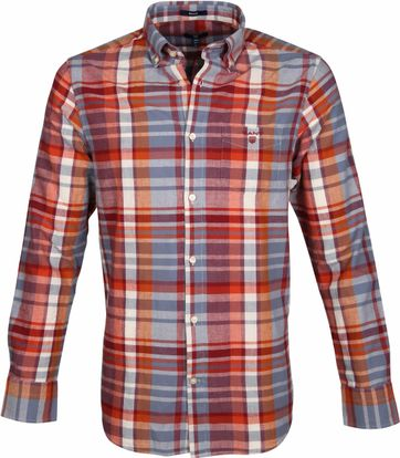 Gant Hemd Madras Rot