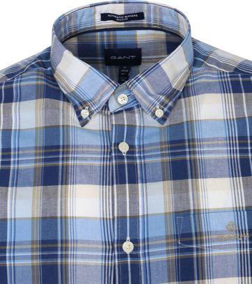 Gant Hemd Madras Ruit Blauw