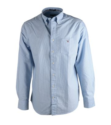 Gant Hemd Regular-fit Blau Punkt