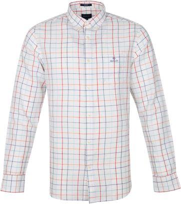 Gant Hemd Ruit Wit