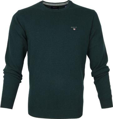 Gant Lambswool Pullover Darkgreen