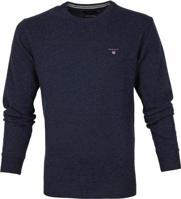 Gant Lambswool Pullover Marine Blue