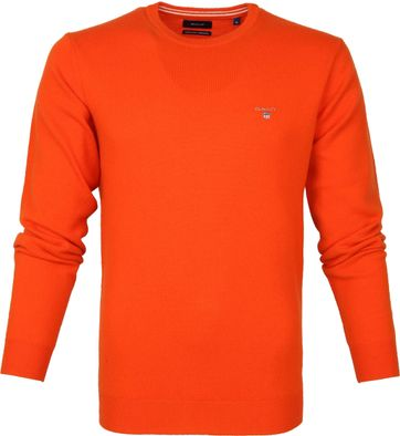 Gant Lambswool Pullover Orange