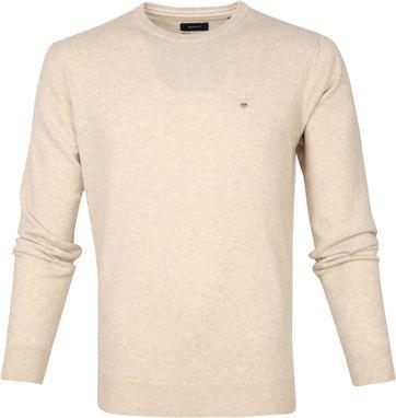 Gant Lammwolle Pullover Beige