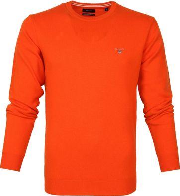 Gant Lammwolle Pullover Orange
