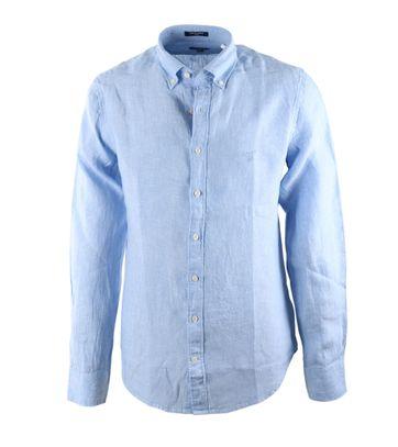 Gant Linnen Overhemd Capri Blue