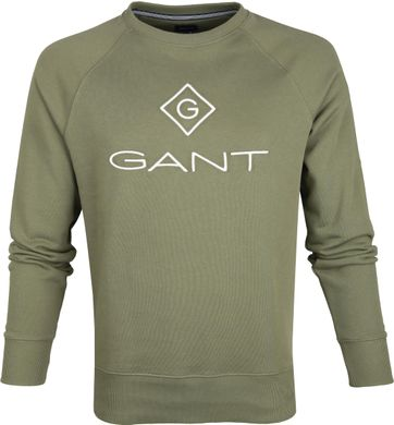Gant Lock Up Sweater Donkergroen