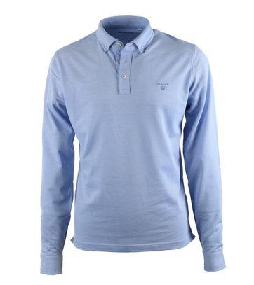 Gant Longsleeve Polo Blauw