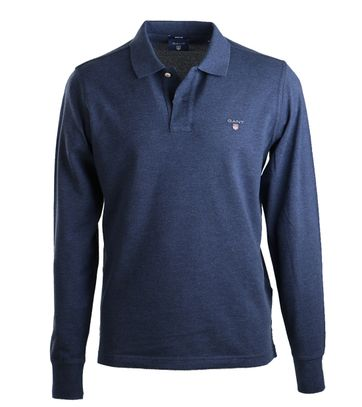 Gant Longsleeve Polo Rugger Blauw