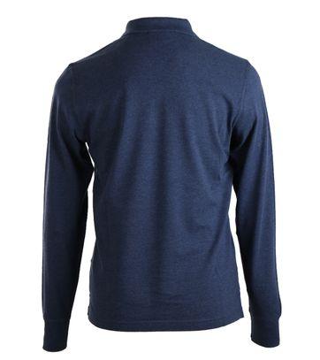 Detail Gant Longsleeve Polo Rugger Blauw