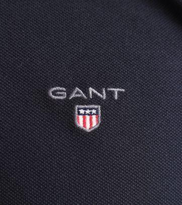 Detail Gant Longsleeve Polo Rugger Donkerblauw