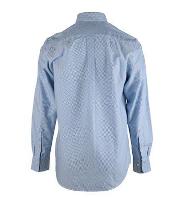 Detail Gant Overhemd Blauw Pinpoint