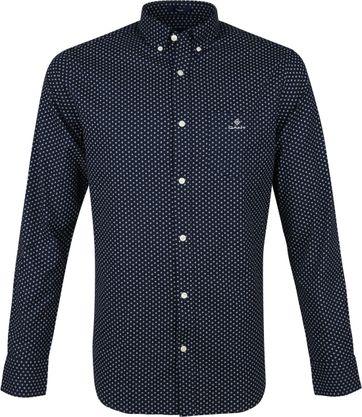Gant Overhemd Cherry Bloesem Navy