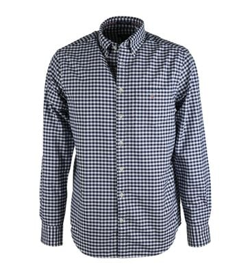 Gant Overhemd Gingham Blauw