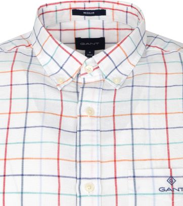 Gant Overhemd Ruit Wit