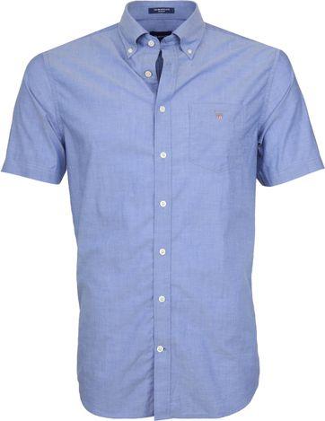 Gant Overhemd SS Broadcloth Blauw
