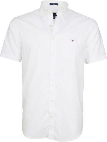 Gant Overhemd SS Broadcloth Wit