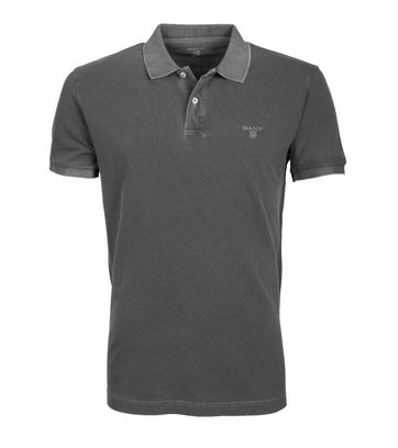 Gant Polo Basic Washed Antraciet