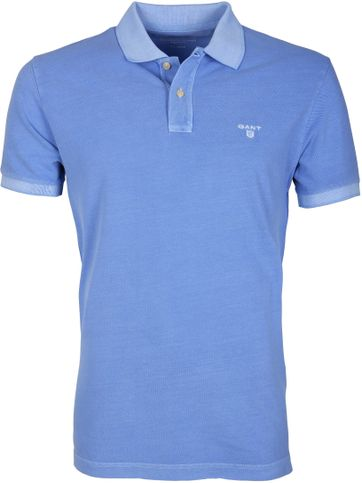 Gant Polo Basic Washed Blauw