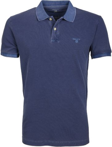 Gant Polo Basic Washed Dunkelblau