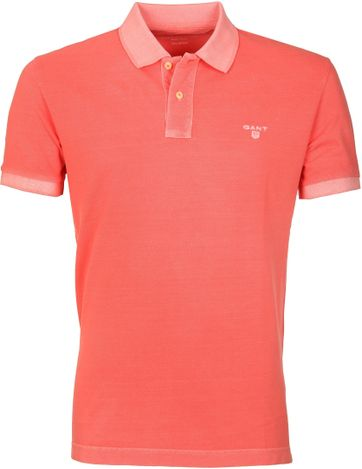 Gant Polo Basic Washed Roze