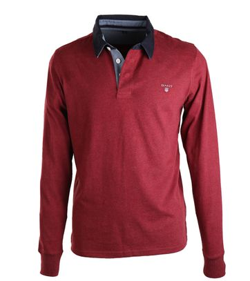 Detail Gant Polo Rood Navy