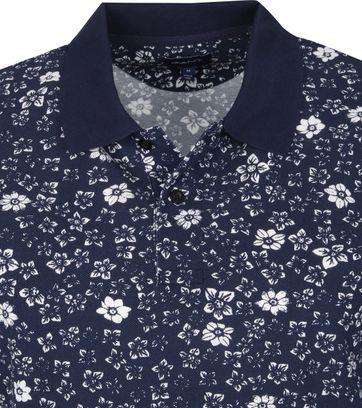 Gant Polo Rugger Bloemen Donkerblauw