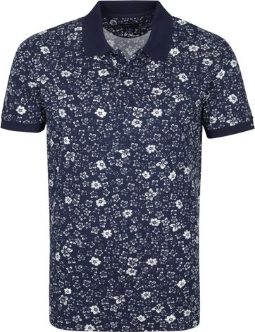 Gant Polo Rugger Blumen Navy