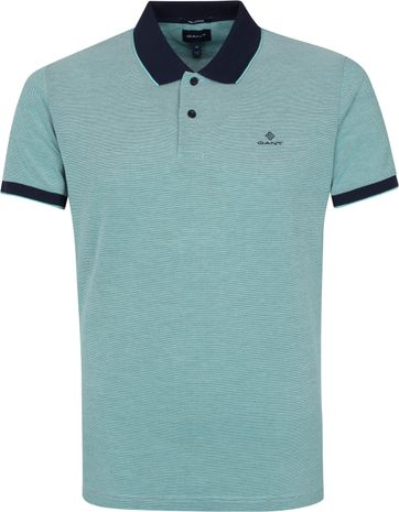 Gant Polo Shirt Green Lagoon