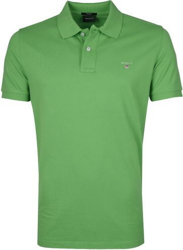 Gant Polo Shirt Rugger Foliage Green
